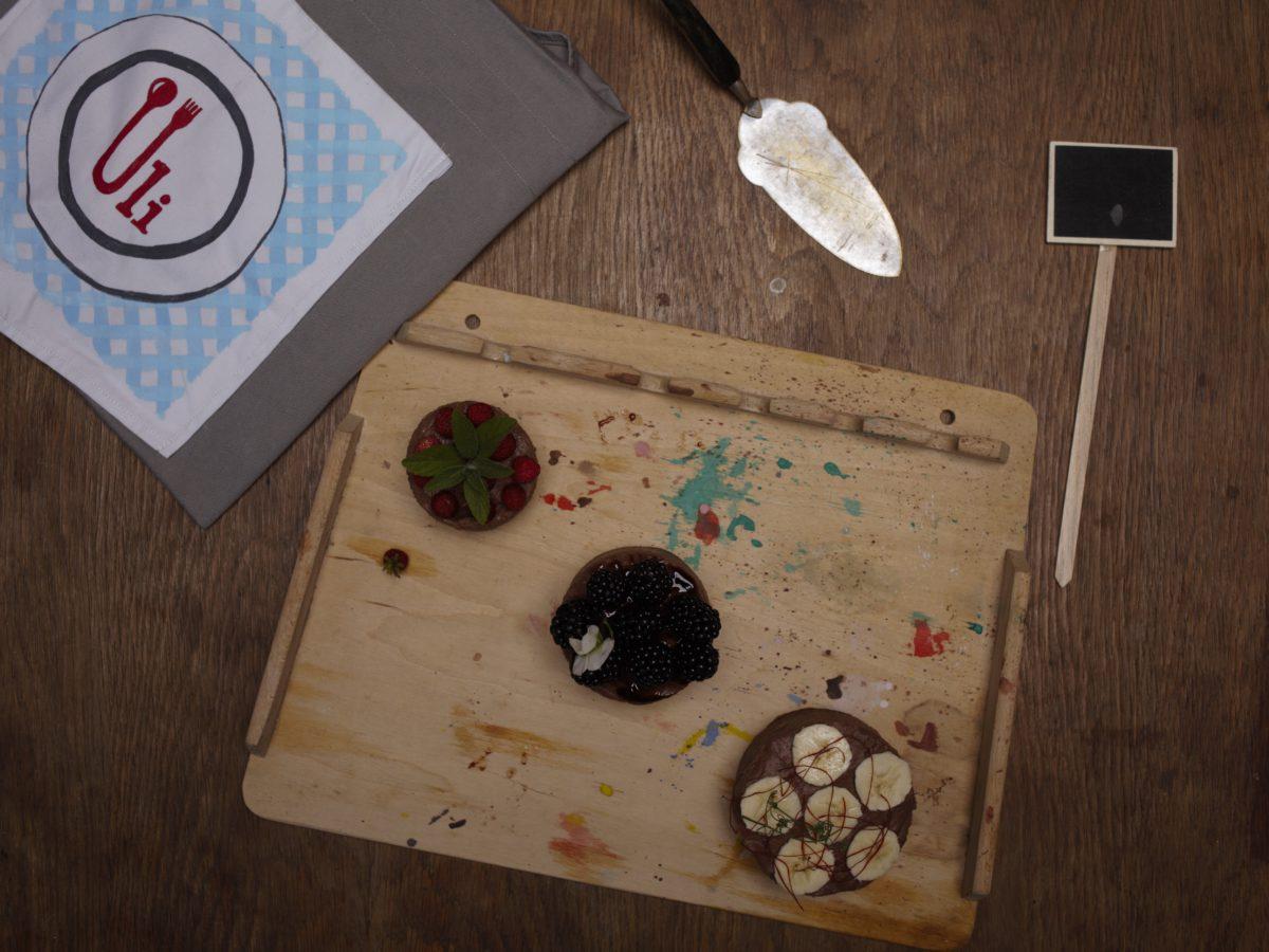 Tarta wegańska mocno czekoladowa